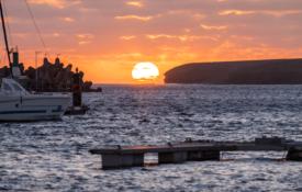 Morro-Jable---Hafen---Sunset